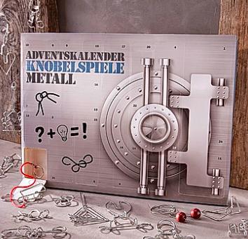 Adventskalender Knobelspiele Metall