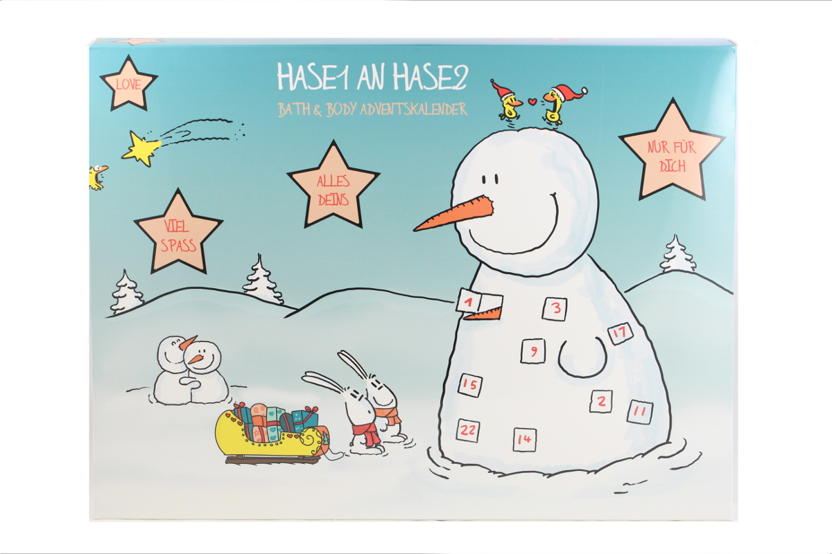 Adventskalender Hase 1 an Hase 2 2020