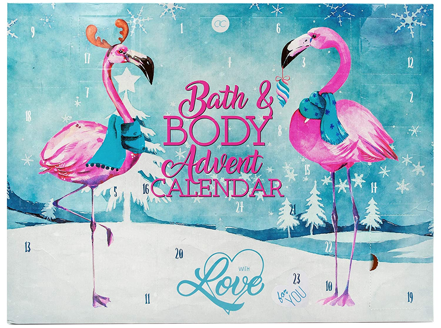 XXL Adventskalender FLAMINGO LOVE Bad & Körperpflege 2019
