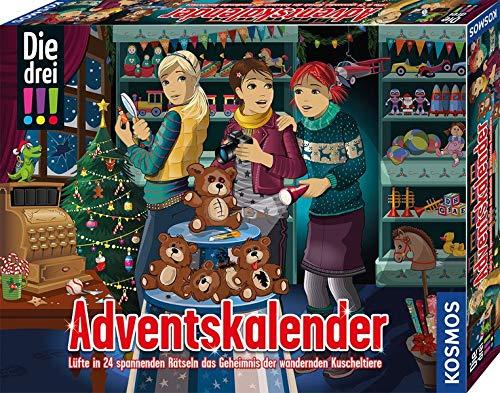 Kosmos Die drei !!! Adventskalender 2020, mit 24 Detektiv-Gimmicks, Spielzeug-Adventskalender für Kinder ab 8 Jahre, Krimi Geschichte bis Weihnachten