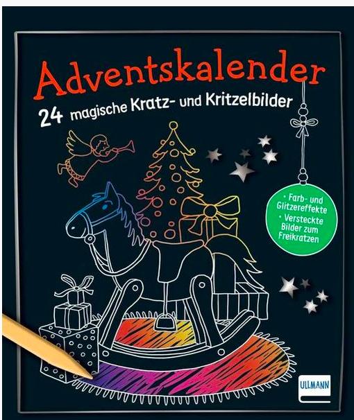 Kratz- und Kritzelbilder Adventskalender