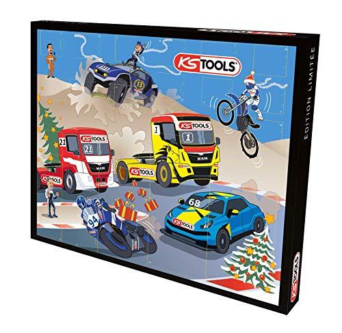 KS Tools 999.6667 Adventskalender mit einem Werkzeug pro Tag, Steckschlüsselsatz, 0,64cm, 33-teilig, originelles Geschenk zu Weihnachten, für Männer und Heimwerker variant