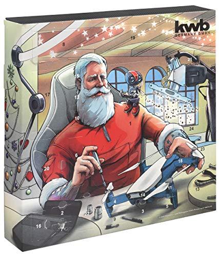 kwb 370210 Premium Adventskalender 2020 mit Gewinn-Chance-Weihnachts-Kalender für Mann und Frau, Qualitäts Werkzeug-Set inkl. Flaschenöffner in Steckschlüssel-Desing und hochwertiger Tasche, Version