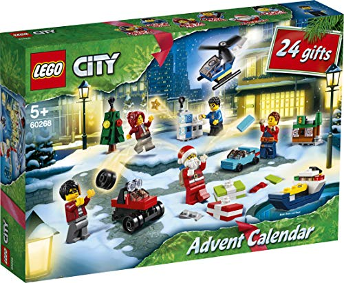 LEGO 60268 City Adventskalender 2020 Weihnachten Mini Bauset mit Kleinstfahrzeugen, Santa Schlitten und Board, Bauset – LEGO – detail 2