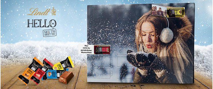 Lindt HELLO Adventskalender mit Foto