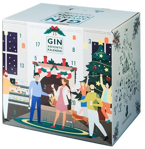 Gin Adventskalender 2021 mit Tonic Water, Snacks und mehr von LIQUID DIRECTOR I Gin-Kalender als Geschenk für Frauen und Männer I insgesamt 6,3 kg