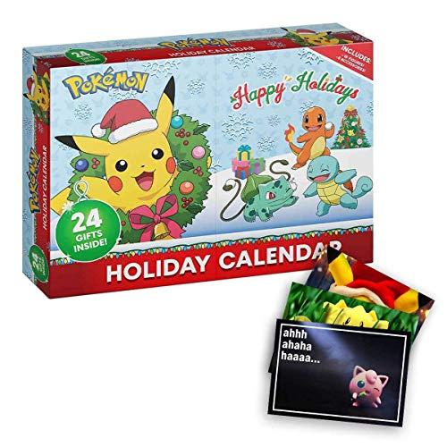 Lively Moments Pokemon Figuren Adventskalender / Weihnachtskalender 2020 - Happy Holidays und Exklusive GRATIS Grußkarte