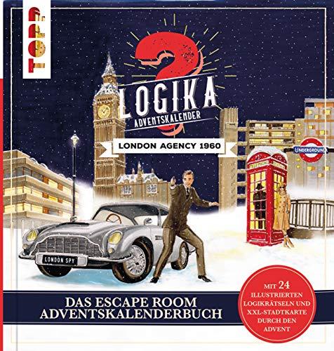 Logika Adventskalenderbuch – London Agency 1960: Mit 24 illustrierten Logikrätsel durch den Advent: 24 verschlossene Rätselseiten und XXL-Poster. Das ... um den berühmtesten Geheimagenten der Welt