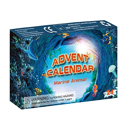 Weihnachts Adventskalender, 24 Stück Weihnachten Countdown Kalender Meerestier Spielzeug Weihnachtskalender Geschenk für Jungen Mädchen variant