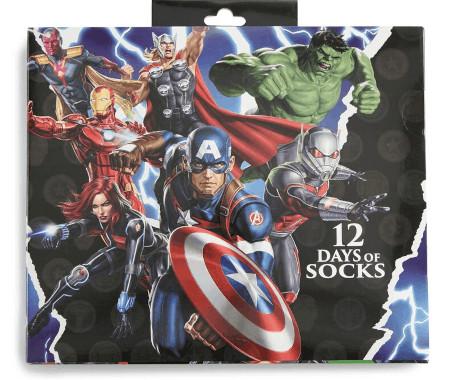 Marvel 12 Days Of Socks Advent Calendar