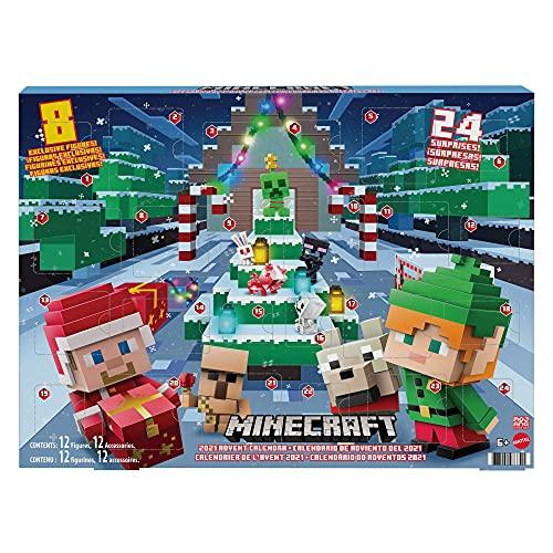 Minecraft HBB20 - Mini Figuren Adventskalender, jeden Tag eine neue Geschichte mit Minecraft Figuren und Stickern, ab 6 Jahren variant