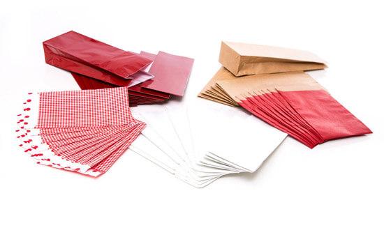 Papiertütchen rot gemischt