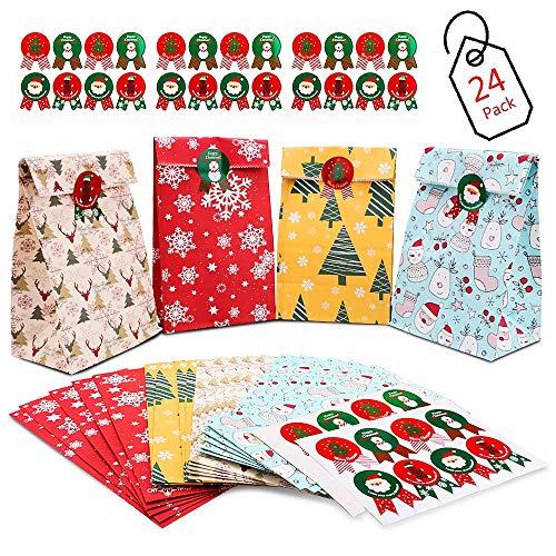 DIY Adventskalender, 24 Kraftpapiertüten
