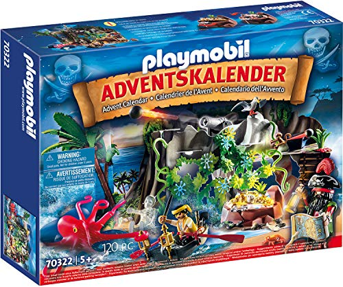 PLAYMOBIL 70322 Adventskalender Schatzsuche in der Piratenbucht, Ab 5 Jahren