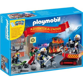 Feuerwehreinsatz Mit Kartenspiel Playmobil Adventskalender 2014