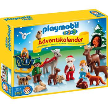 playmobil Adventskalender Waldweihnacht 1-2-3 2014