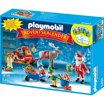 Weihnachtsmann beim Geschenke Packen Playmobil Adventskalender 2013