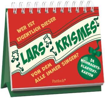 Postkarten Aufsteller Adventskalender Wer ist eigentlich dieser Lars Krismes