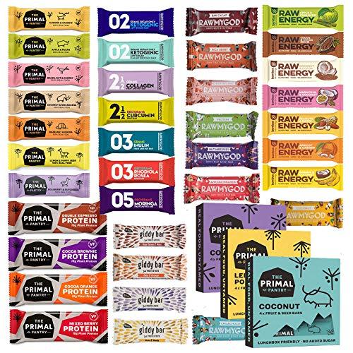 Probierpaket Fitness 25 Riegel Superfood Mix Fruits´n Nuts und Fitnessband Vegan Glutenfrei Raw Ohne Zusatz von Zucker