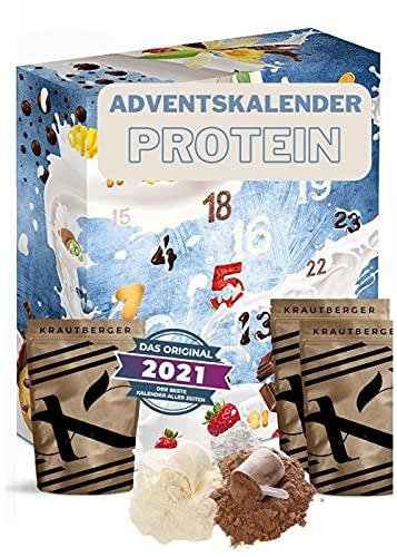 Protein Adventskalender 2020 - 24 x 20g verschiedene Proteinpulver, Eiweiß Protein Kalender für Sportler – Boxiland – detail 1