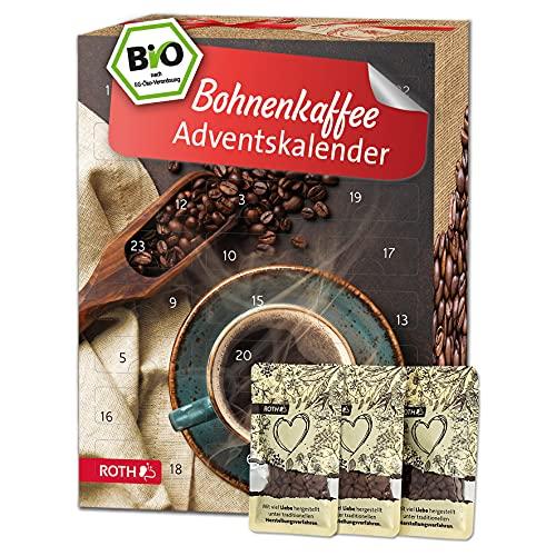 ROTH Kaffeebohnen Adventskalender 2021 gefüllt mit hochwertigen Kaffee-Röstungen, Kalender mit Kaffee in Päckchen für die Vorweihnachtszeit