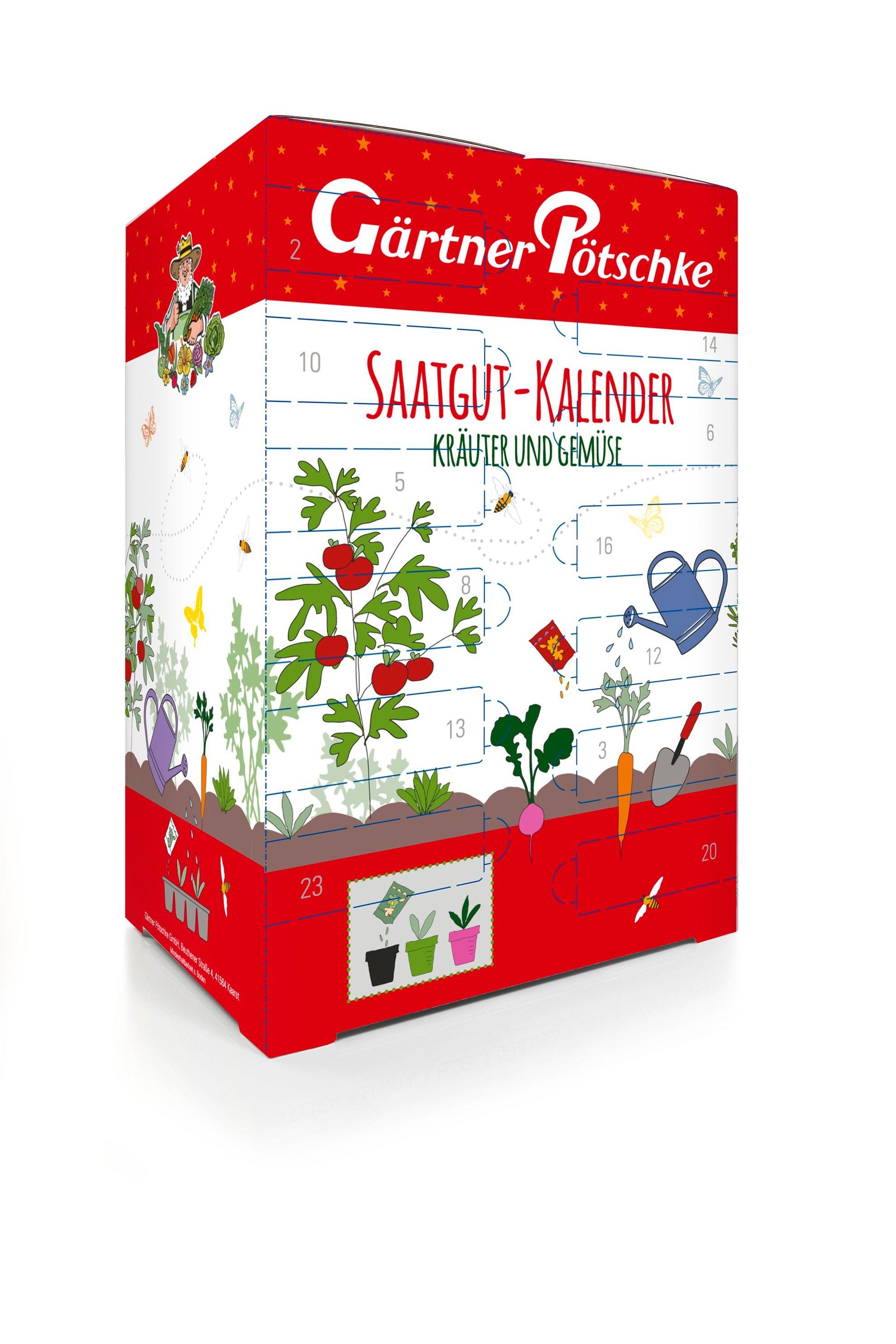 Saatgut-Adventskalender Kräuter & Gemüse