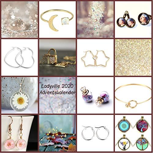 Adventskalender 2020 / Schmuck Adventskalender/Geschenk für sie/Wichtelgeschenk/Nikolausgeschenk/Weihnachtsgeschenk/Blütenschmuck
