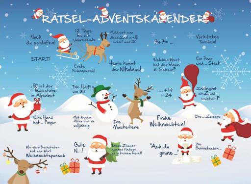 Schokolade Lindt Rätsel Adventskalender