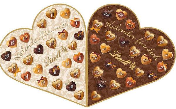 Schokolade Lindt & Sprüngli für Pärchen Adventskalender