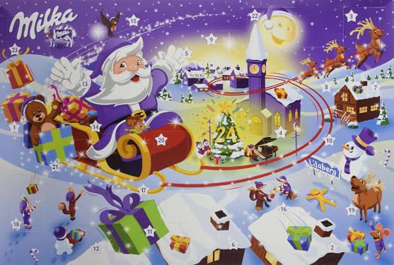 Schokolade Milke Weihnachten Adventskalender