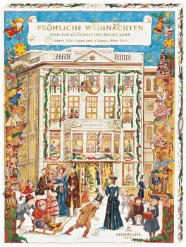 Schokoladen Adventskalender Café Niederegger