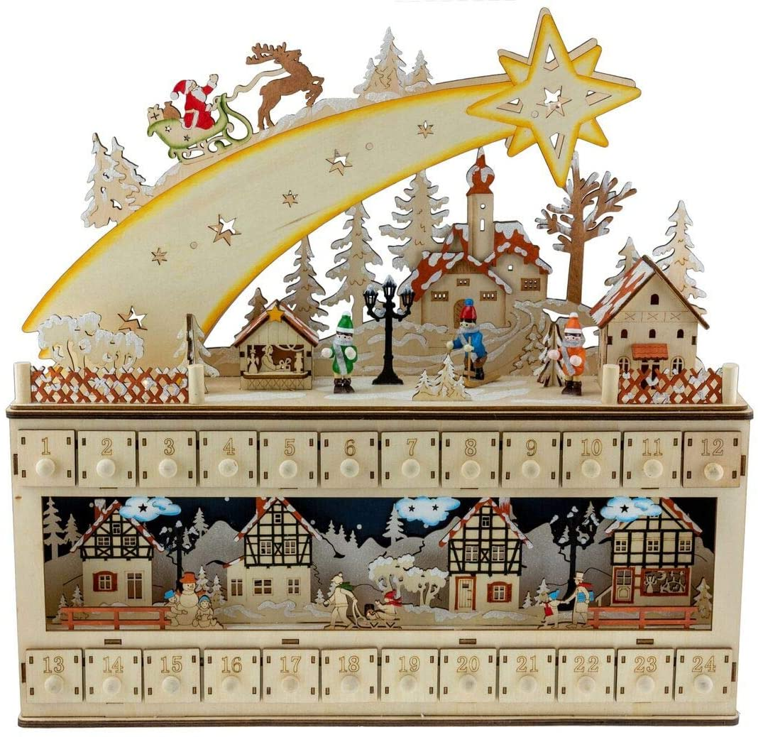 Snowy Village Advent Calendar