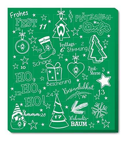 SV Werder Bremen Adventskalender 2020 Weihnachtskalender Premium mit Poster Kalender Bundesliga Fußball Weihnachten + Collegeblock DIN A5 (7,95 € /100 g)