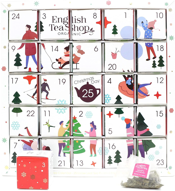 Organic White Ornaments Advent Calendar