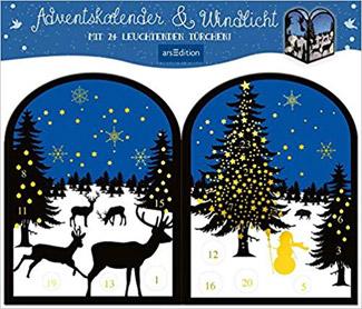 Teelichthäuschen Winternacht Adventskalender 2018