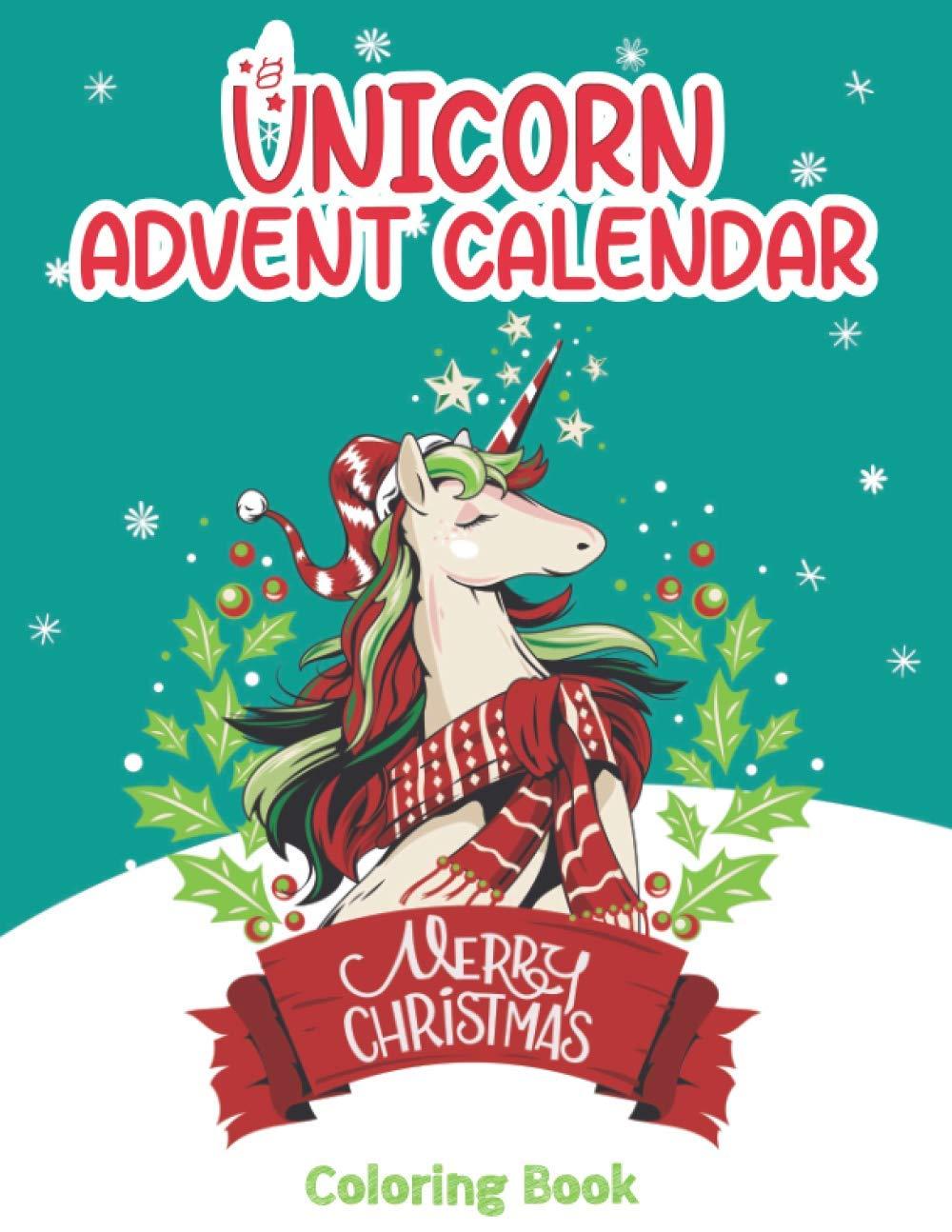 Unicorn Advent Calendar Coloring Book