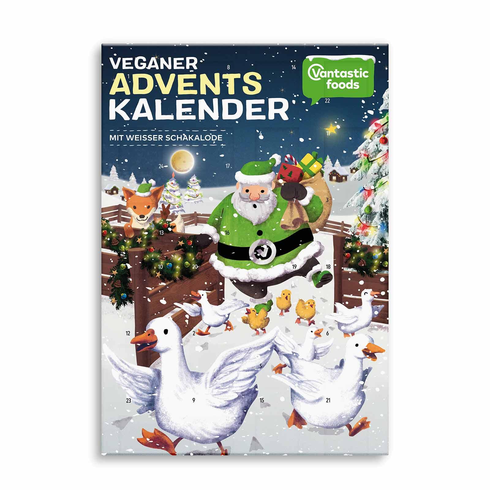 Veganer weiße Schokolade Adventskalender
