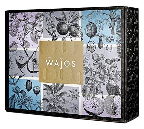 WAJOS Adventskalender 2020 - Premium Bar Spezialitäten   Weihnachtskalender mit 24 Türchen voller Likör, Gin, Whiskey & Spirituosen Überraschungen   Geschenk für Erwachsene Männer & Frauen