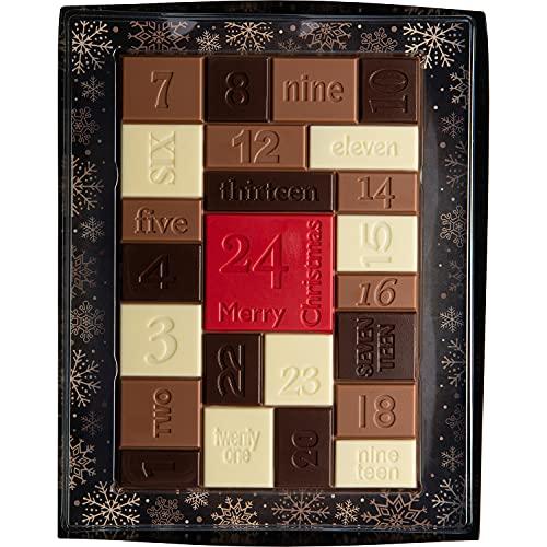 Weibler Confiserie Geschenkpackung Adventskalender Edelvollmilch Schokolade 250 g