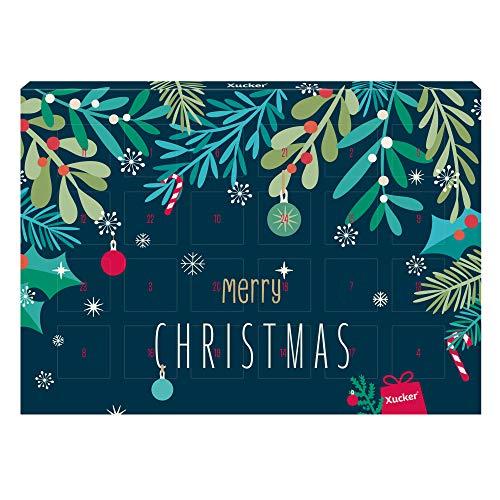 Xucker Adventskalender 2019, Edelbitter Xylit-Schokolade, 72 g - vegan, ohne Zuckerzusatz, ohne Gentechnik – Xucker – detail 2