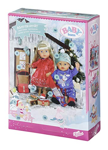 Zapf Creation 828472 BABY born Adventskalender mit 24 Kleidungs- und Accessoire-Überraschungen für BABY born, Puppenzubehör 43 cm variant