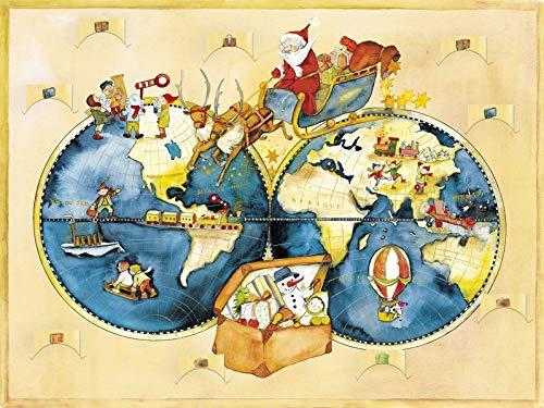 """Adventskalender """"Reise um die Welt"""": Adventskalender mit 24 Weihnachtsbräuchen aus aller Welt."""