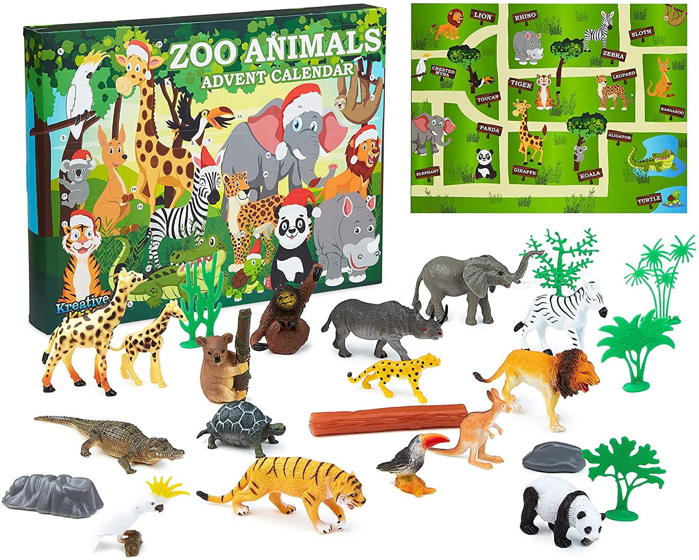KreativeKraft Zoo Animals Advent Calendar 2021